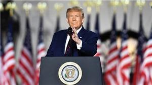 Bầu cử Mỹ 2020: Tổng thống Trump chính thức tiếp nhận đề cử của đảng Cộng hòa