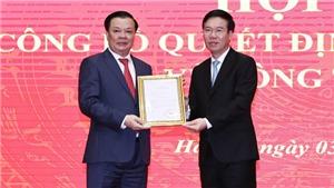 Đồng chí Đinh Tiến Dũng giữ chức Bí thư Thành ủy Hà Nội
