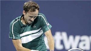 Tennis: Hết Osaka, đến lượt Medvedev tạm biệt Miami Open