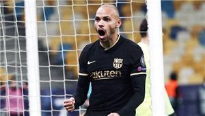 Trực tiếp Ferencvaros vs Barcelona: Và Braithwaite đã mang Griezmann trở lại