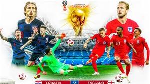 Croatia vs Anh (01h00,12/7): Trước cái ngưỡng của lịch sử. VTV3, VTV6 trực tiếp