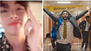 V BTS đột nhiên trở thành rapper trong kỳ nghỉ, giúp Amine tạo 'trend'