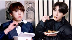 Jungkook BTS ăn 'phùng mang trợn má' siêu đáng yêu