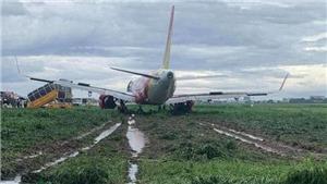 Cục Hàng không Việt Nam lập tổ điều tra sự cố máy bay Vietjet lao ra khỏi đường băng
