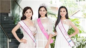 Chùm ảnh: Top 3 Hoa hậu Việt Nam 2018 lần đầu đọ sắc sau đêm đăng quang