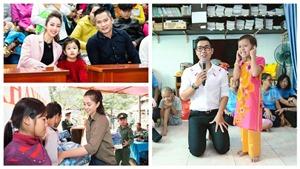 Ca sĩ Mỹ Tâm, Hoa hậu Tiểu Vy, MC Nguyên Khang nhiệt tình làm thiện nguyện ngày cận Tết