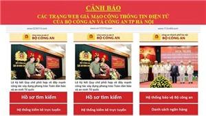 Hà Nội: Phát hiện 8 trang web giả mạo lực lượng Công an