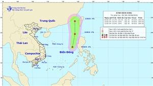 Vùng áp thấp đã mạnh lên thành áp thấp nhiệt đới