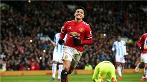 Video bàn thắng trận M.U 2-0 Huddersfield: Sanchez đã mở tài khoản