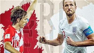 Xem trực tiếp trận Croatia vs Anh (01h00 ngày 12/7). TRỰC TIẾP trên VTV3 và VTV3 HD