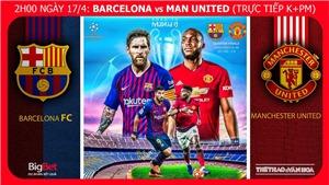 Soi kèo Barcelona vs MU (2h00 ngày 17/4), lượt về tứ kết Cúp C1. Trực tiếp K+PM