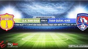 Nam Định vs Than Quảng Ninh: Trực tiếp bóng đá và nhận định (17h00, 10/5), V-League 2019