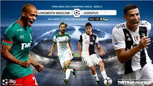 Soi kèo Lokomotiv Moscow đấu với Juventus. Trực tiếp bóng đá C1 (K+, K+PM, K+PC, K+1, K+NS)