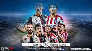 Soi kèo Juventus đấu với Atletico Madrid. K+, K+PC trực tiếp bóng đá C1