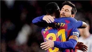 BÓNG ĐÁ HÔM NAY 03/02: Man City đã kém Liverpool 22 điểm. Messi giúp Barca bám đuổi Real