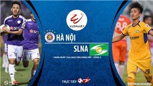 Soi kèo bóng đá Hà Nội vs SLNA. VTV6 trực tiếp vòng 5 V.League 2020
