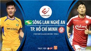 Soi kèo bóng đá SLNA vs TP.HCM. Trực tiếp bóng đá V-League vòng 6