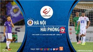 Soi kèo bóng đá Hà Nội vs Hải Phòng. Trực tiếp bóng đá V League 2020