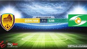 Soi kèo bóng đá Quảng Nam vs SLNA. Trực tiếp bóng đá Việt Nam. V-League 2020