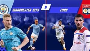 KẾT QUẢ BÓNG ĐÁ: Man City 1-3 Lyon: Sterling bỏ lỡ khó tin, Man City bị loại đầy cay đắng