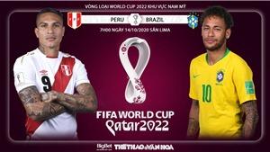 Soi kèo nhà cái Peru vs Brazil. Vòng loại World Cup 2020 khu vực Nam Mỹ