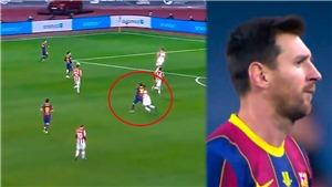 Barcelona nhận hung tin sau chiếc thẻ đỏ của Messi