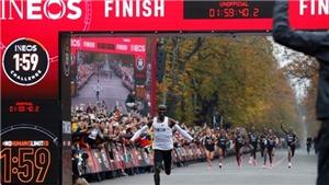 VĐV người Kenya Eliud Kipchoge chạy marathon dưới 2 giờ, đi vào lịch sử điền kinh thế giới