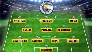 Man City: Lộ diện đội hình siêu khủng có Messi và Haaland