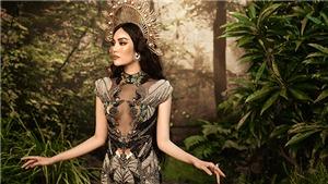Lan Khuê hóa nữ thầnquyến rũ xuất hiện trên poster show diễn mới của Hoàng Hải