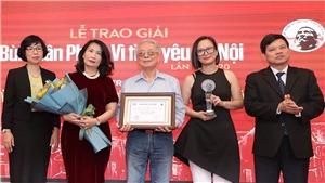 Kết quả'Giải Bùi Xuân Phái - Vì tình yêu Hà Nội' lần 13-2020: Nhạc sĩ 'Hà Nội phố' Phú Quang được vinh danh Giải thưởng lớn