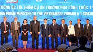 Thủ tướng Australia thăm Đường đua F1 Hà Nội
