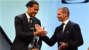 Van Dijk vượt qua Ronaldo và Messi, giành giải Cầu thủ xuất sắc nhất năm