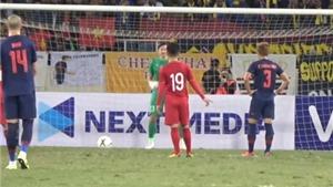 Quang Hải đã mách nước cho Văn Lâm, chỉ hướng sút 11m của cầu thủ Thái Lan