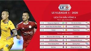 Bảng xếp hạng V-League vòng 6. BXH bóng đá Việt Nam 2020. Kết quả bóng đá