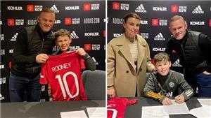 MU ký hợp đồng với con trai Rooney