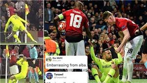 Ăn vạ, cố tình cài bẫy Ashley Young, Jordi Alba bị gọi là 'nỗi ô nhục'