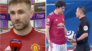 Tin bóng đá MU 1/3: Shaw hé lộ sốc về trọng tài. MU ra quyết định bất ngờ về Bailly