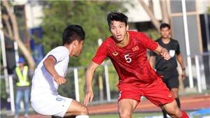 Văn Hậu mất oan bàn thắng đẹp mắt vào lưới U22 Lào