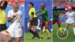 Choáng ở World Cup nữ: Cầu thủ Cameroon 'phun mưa', đạp gầm giày đối thủ, đẩy ngã trọng tài, tố FIFA