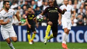 Video clip bàn thắng trận Swansea vs Man City