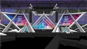 Asia Artist Awards (AAA 2019): Sân khấu hình ngôi sao 'khủng' đang được chuyên gia Hàn Quốc lắp đặt