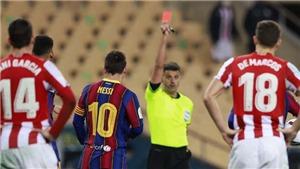 Messi nhận thẻ đỏ đầu tiên ở Barcelona: Chuẩn bị cho cuộc chia tay cay đắng