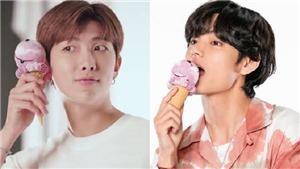 Phản ứng siêu hài của RM và V BTS khi sắp bị bắt vì lén ăn kem giữa thời kì ăn kiêng