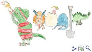 Vượt qua 180 nghìn 'đối thủ', tác phẩm của cô bé 7 tuổi trở thành biểu tượng Google Doodle hôm nay 8/1