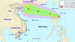 Tin áp thấp nhiệt đới giật cấp 8 trên Biển Đông
