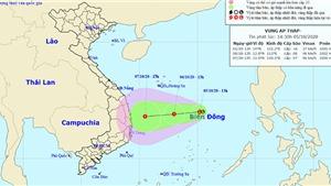 Dự báo thời tiết: Vùng áp thấp có khả năng mạnh lên thành áp thấp nhiệt đới