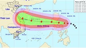Bão số 13 ảnh hưởng trực tiếp đến miền Trung từ ngày 14 -15/11