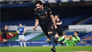 Everton 0-2 Man City: Guendogan tỏa sáng giữ hy vọng ăn 4 cho Man City