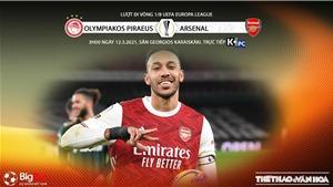 Soi kèo nhà cái Olympiacos vs Arsenal. K+PC trực tiếp vòng 1/8 Europa League
