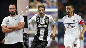 AC Milan đạt thoả thuận mượn Higuain, đổi Bonucci lấy Caldara của Juventus